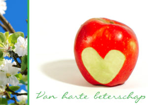 Van harte beterschap appel